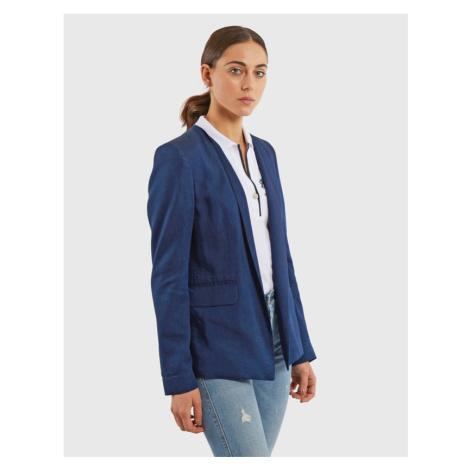 Sako La Martina Woman Lurex Denim Jacket - Modrá