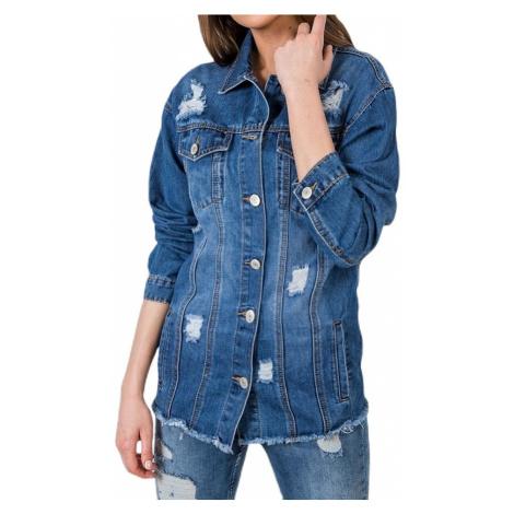Dlouhá džínová  bunda BASIC