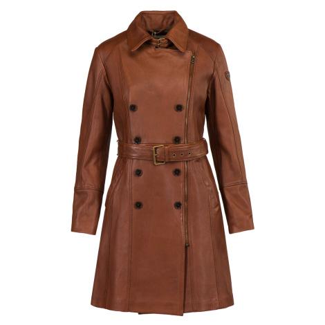 Kožený kabát AERONAUTICA MILITARE hnědá