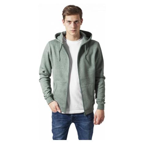 Melange Zip Hoody - green Urban Classics