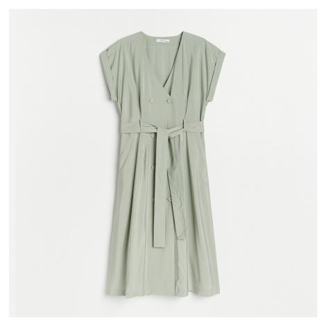 Reserved - Šaty s páskem - Zelená