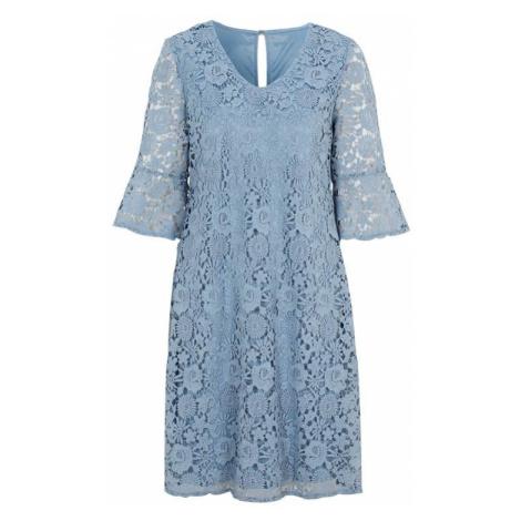 Světle modré krajkové šaty Cellbes