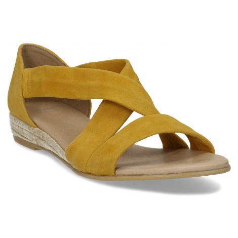Kožené dámské sandály na klínku Baťa