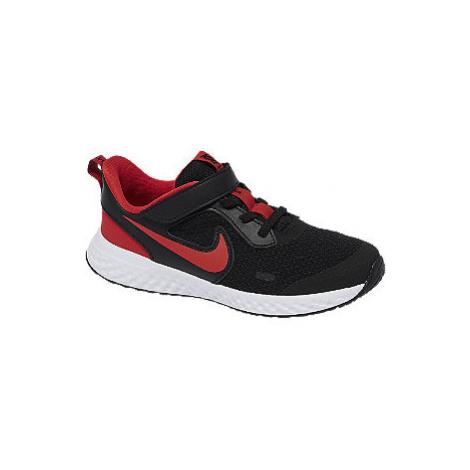 Černo-červené tenisky na suchý zip Nike Revolution 5