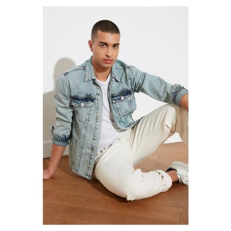 Trendyol Blue Male Long Fit Jacket