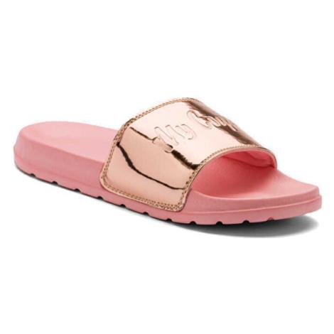 Coqui Dámské pantofle Cleo Powder Pink/metalic Pink 7062-100-6289