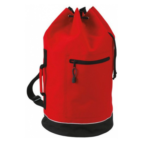 Městský barel batoh - červená