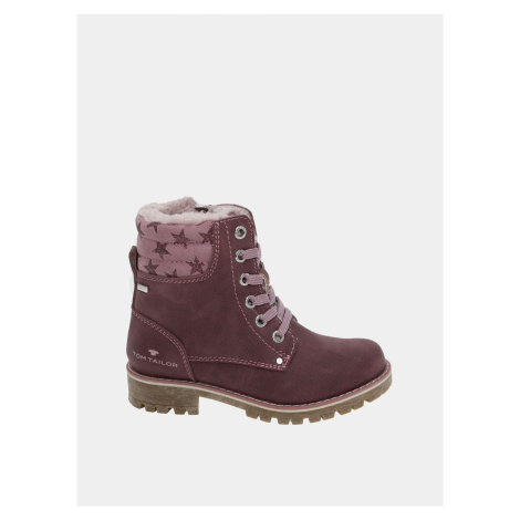 Růžové holčičí zimní boty Tom Tailor