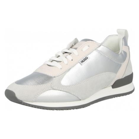 HUGO Tenisky 'Jamie' stříbrná / stříbrně šedá / béžová Hugo Boss