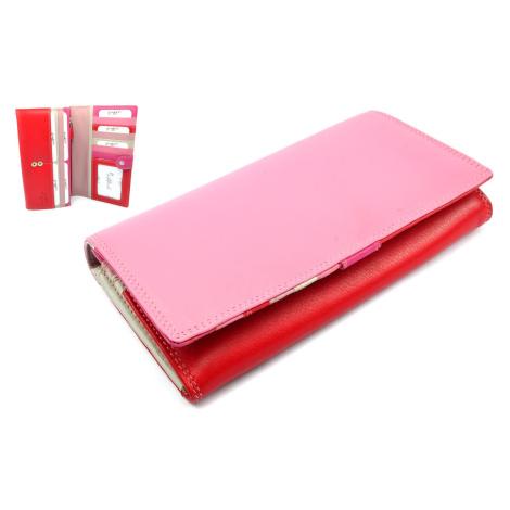 Růžová peněženka dámská kožená Golunski