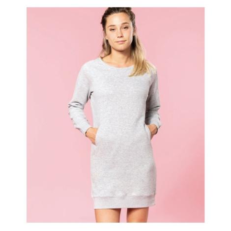 Bio fleece šaty, XL, námořnická modrá