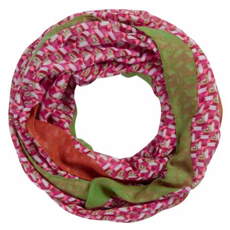 CODELLO Kruhová šála tmavě růžová / zelená