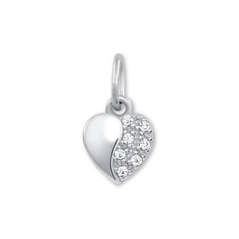 Brilio Zlatý přívěsek Srdce s krystaly 249 001 00537 07
