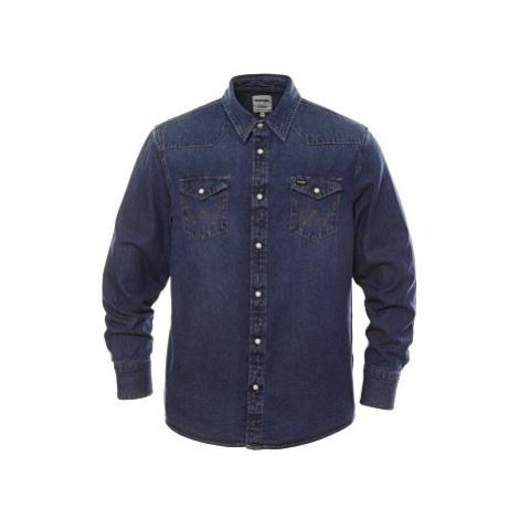 Košile Wrangler 27MW 1Year pánská tmavě modrá