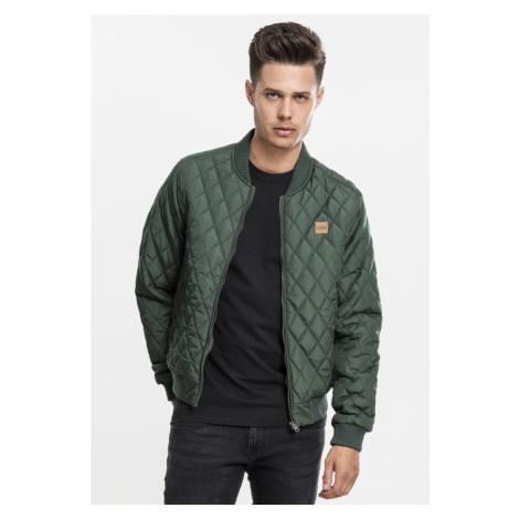 Diamond Quilt Nylon Jacket - olive Urban Classics