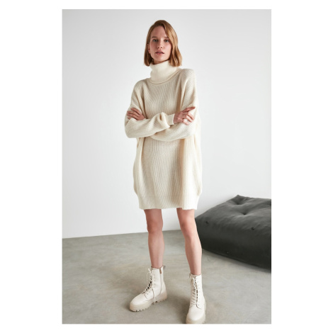 Trendyol Ekru Turtleneer Knitwear Dress