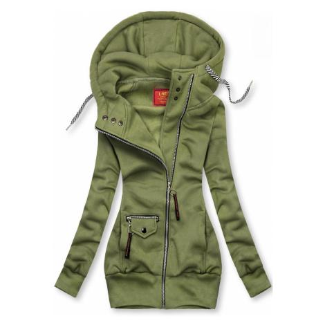Zelená mikina na zip Butikovo