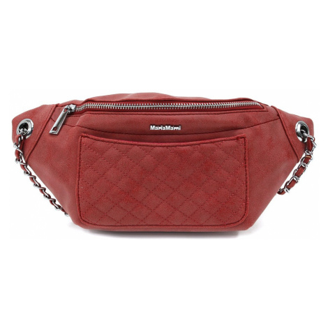 Červená dámská trendy kabelka ledvinka Celesse Mahel