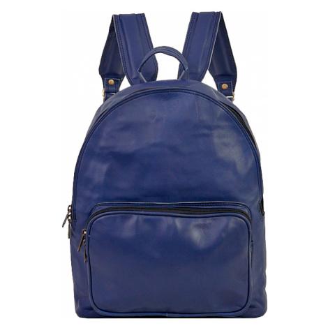 Bagind Urban Atmos - Dámský i pánský kožený batoh modrý, ruční výroba, český design