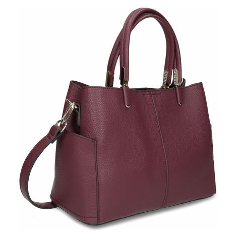 Mahagonová kabelka s kapsičkami na stranách Baťa