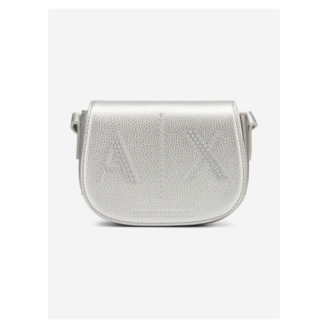 Kabelka Armani Exchange Stříbrná