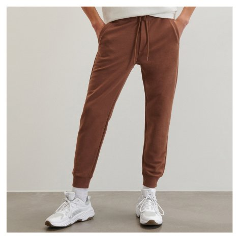 Reserved - Teplákové kalhoty slim fit - Béžová
