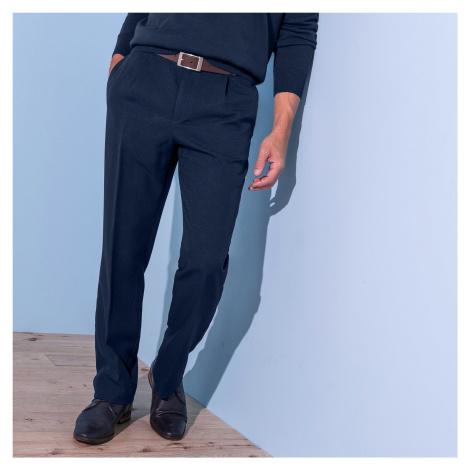 Blancheporte Kalhoty, 100% polyester, elastický pas nám.modrá