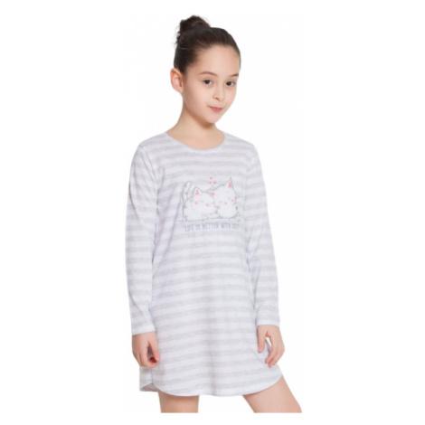 Dětská noční košile s dlouhým rukávem Vienetta Secret Koťata | světle šedá