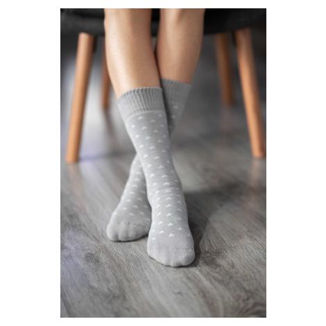 Zimní barefoot ponožky - Hvězdy - Šedé 43-46
