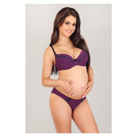 Těhotenské kalhotky 1825 MK fialová Lupoline