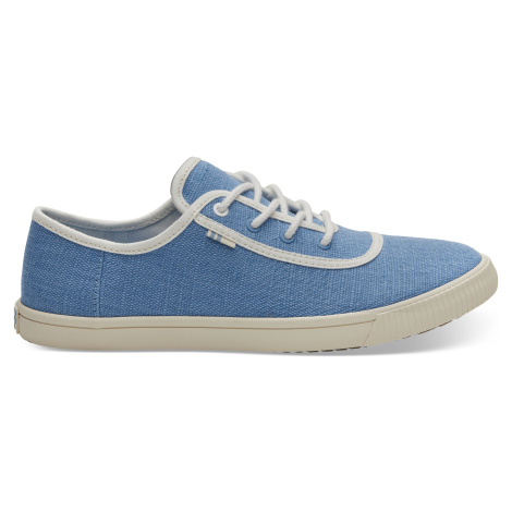 Bliss Blue Heritage Canvas Women Carmel Sneak Toms