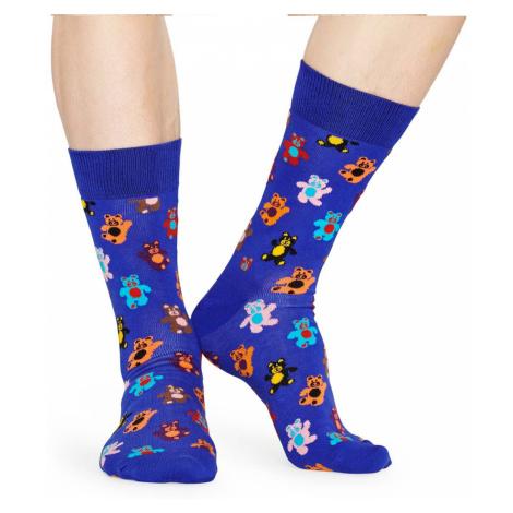 Barevné vzorované ponožky Teddybear – 41 - 46 Happy Socks