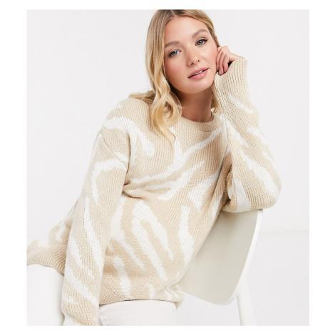 ASOS DESIGN Maternity jumper in animal print-Multi