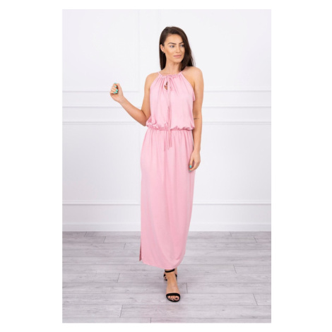 Boho dress with fly powdered pink Kesi