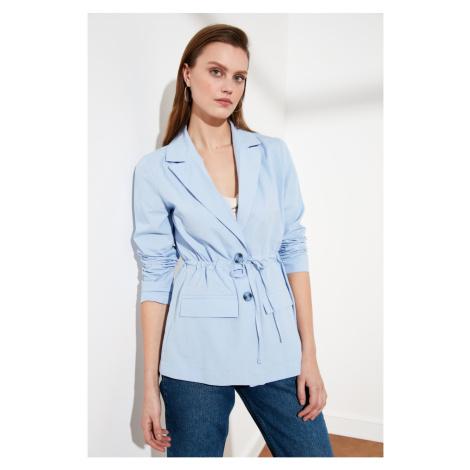 Trendyol Cotton Blazer With Blue Tie DetailING