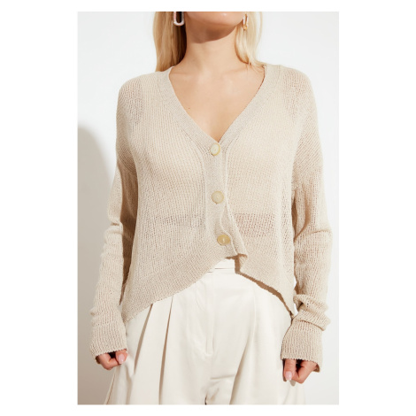 Trendyol Knitwear Cardigan WITH Stone Button Detail