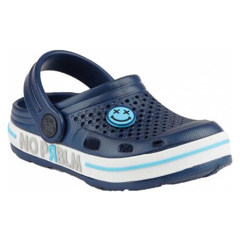 COQUI LINDO Dětské sandály 6423-363 Navy/White