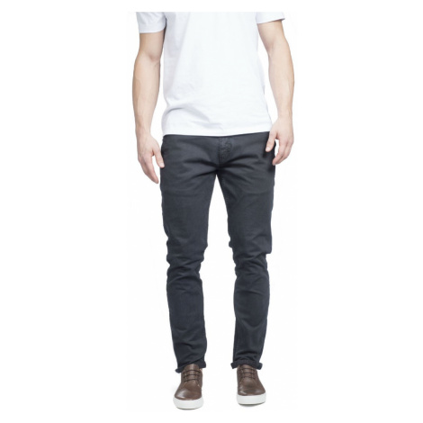 Tmavé modré plátěné kalhoty Makia