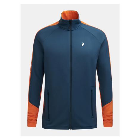 Mikina Peak Performance M Rider Zip Jacket - Modrá