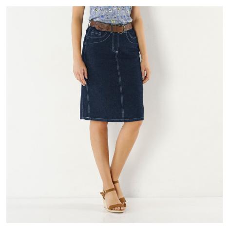 Blancheporte Zeštíhlující džínová sukně modrá