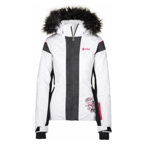 KILPI Dámská lyžařská bunda DELIA-W JL0198KIWHT Bílá