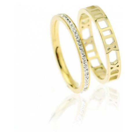 Set 2 prstenů z chirurgické oceli Robyn