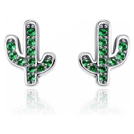 Linda's Jewelry Stříbrné náušnice Kaktus Ag 925/1000 IN273