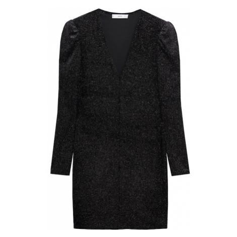 MANGO Šaty 'Vikypic 7' černá / stříbrná