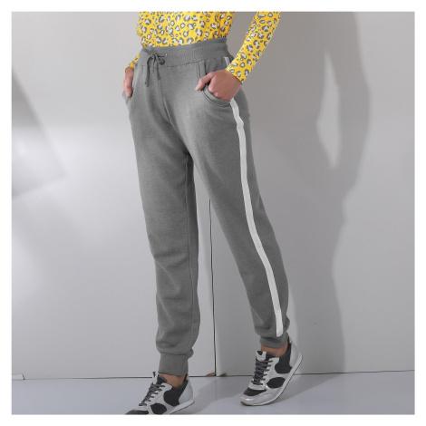 Blancheporte Sportovní kalhoty, dvoubarevné šedý melír/bílá