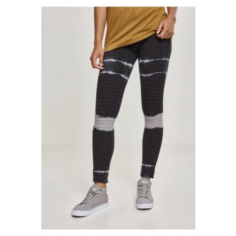Ladies Striped Tie Dye Biker Leggings