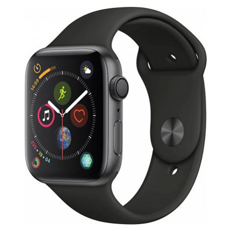 Apple Watch Series 4 40mm vesmírně šedý hliník s černým sportovním řemínkem - SLEVA