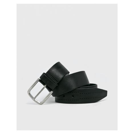 Pepe Jeans pánský černý kožený opasek Laham