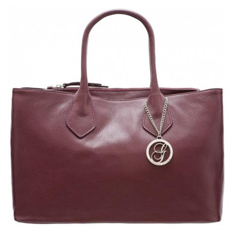 Dámská velká kabelka do ruky se stříbrným kováním - vínová Glamorous