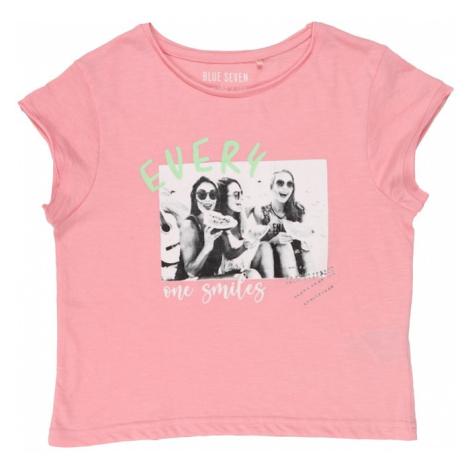 BLUE SEVEN Tričko růžová / bílá / pastelově zelená / černá / šedá